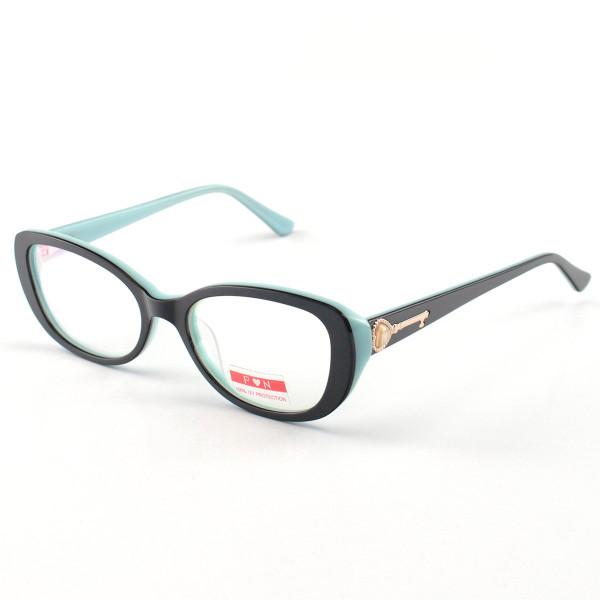 Armacao de Óculos Feminino Prisma PM1803 Chave Preto e Azul