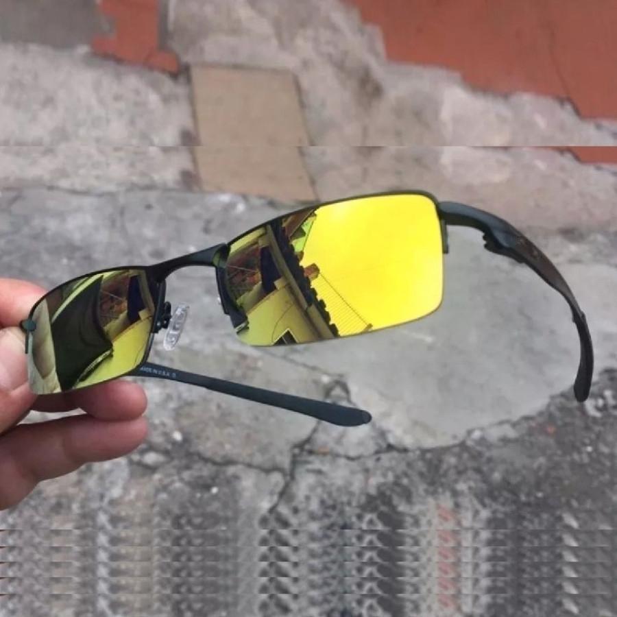 Óculos Oakley Lupinha Lupa Vilão Fio Nylon Mc'S Preta e Dourada