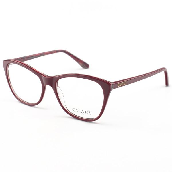Armação de Óculos Quadrado Gucci GG3123 Vermelho