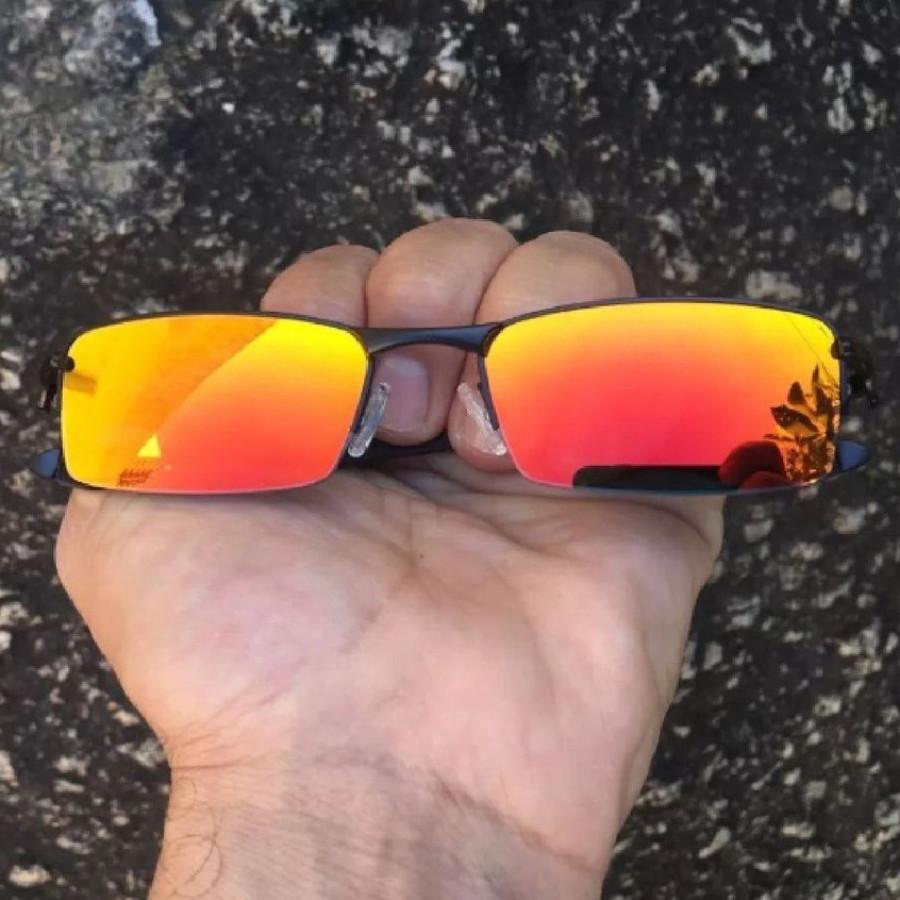 Óculos Oakley Lupinha Lupa Vilão Fio Nylon Preta e Vermelha