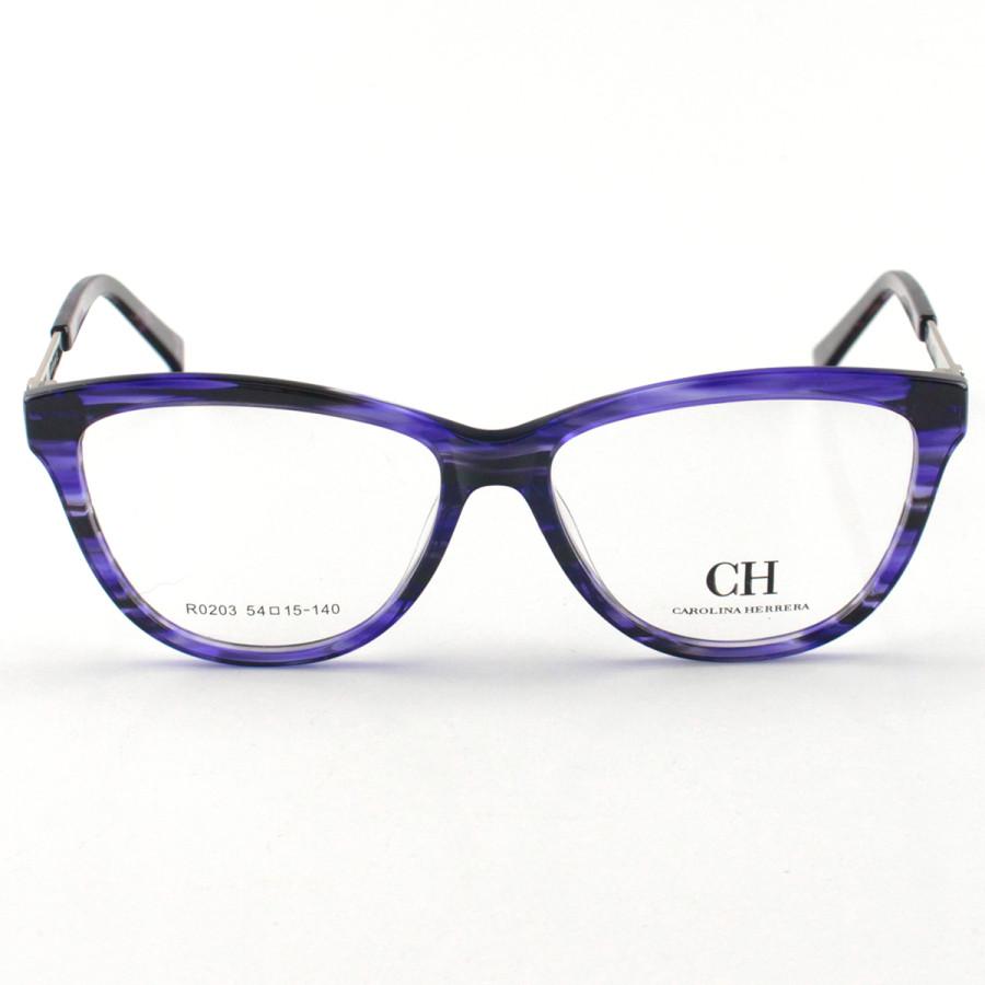 Armação de Óculos Oval Carolina Herrera RO203 Violeta