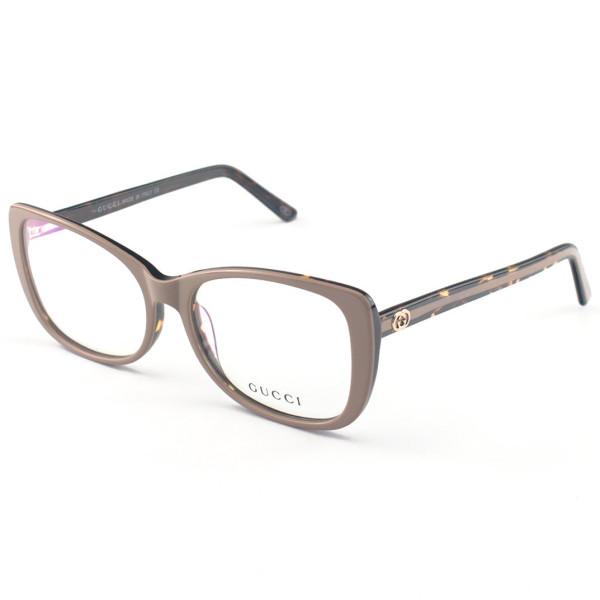Armação de Óculos Quadrado Gucci GG0288 Nude