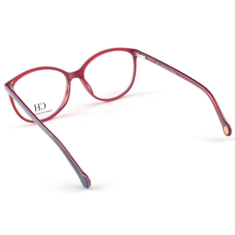 Óculos Armação de Grau - Carolina Herrera Vhe669 Azul e Vermelho