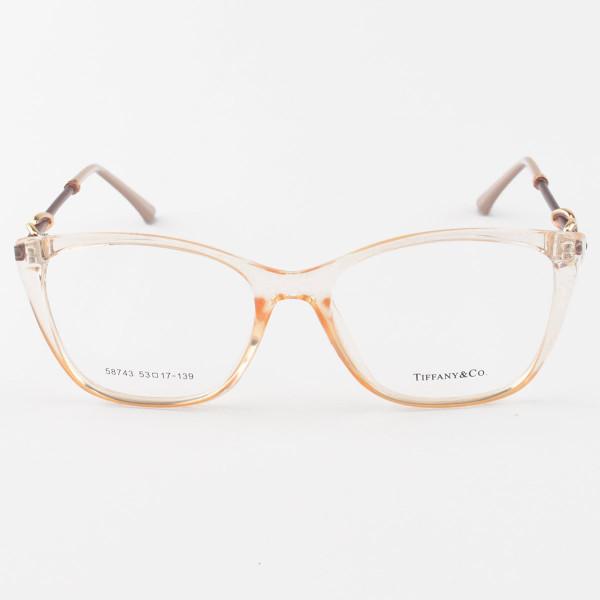 Armacao de Óculos Quadrada Tiffany & Co TF2160 Creme Translucido