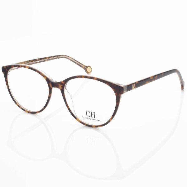 Armação de Óculos Carolina Herrera Gatinho CH627 Marrom Tartaruga