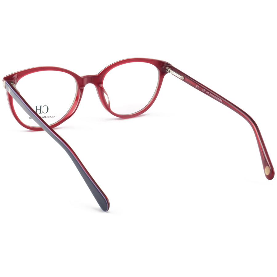 Armação de Óculos Oval Carolina Herrera CH625 Azul e Vermelho