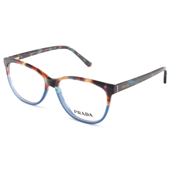 Armacao de Óculos Oval Prada PR14RV Acetato Azul Tartaruga