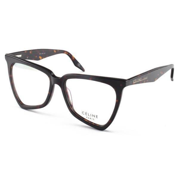 Armacao de Óculos Céline CL 40088 Moderna Marrom Tartaruga