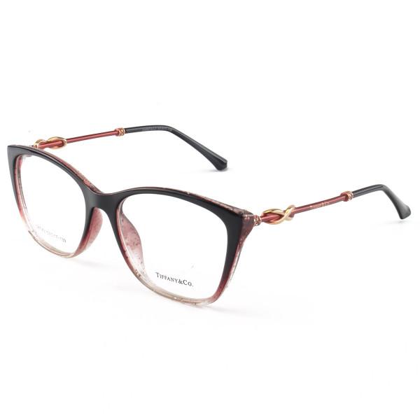 Armacao de Óculos Quadrada Tiffany & Co TF2160 Preto e Degrade