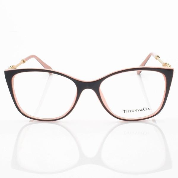 Armação de Óculos Quadrada Tiffany & Co TF2160 Preto e Rosa