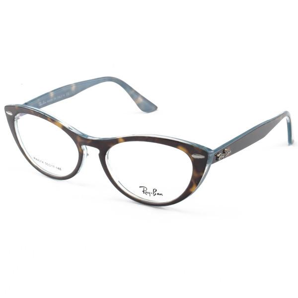 Armacao de Óculos Gatinho Ray-Ban Nina RX4314 Tartaruga e Azul