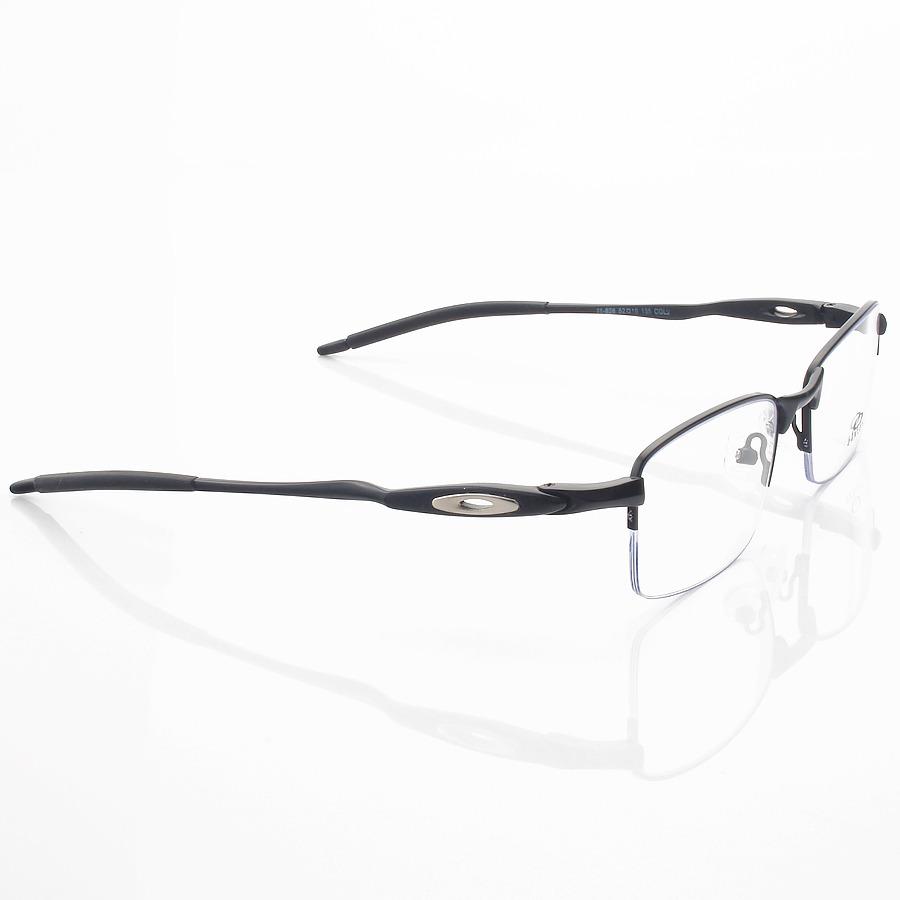 Armação de Óculos Retangular Oakley Meio Aro Evade OX3208 Preto