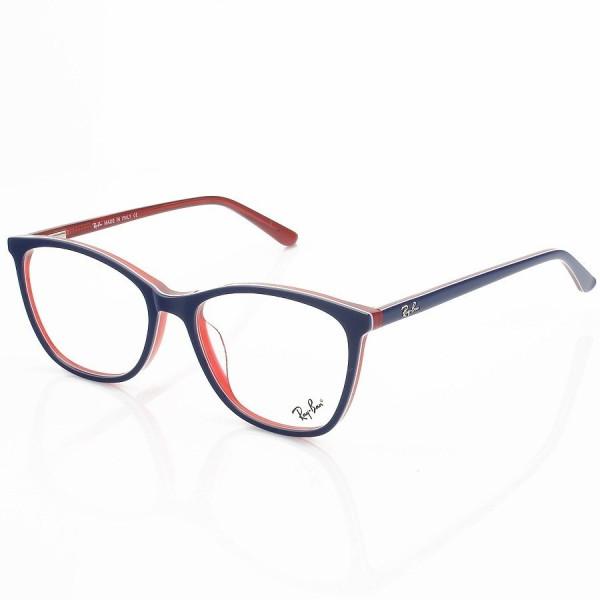Armação de Óculos Quadrada Ray-Ban RB5498 Azul e Vermelha