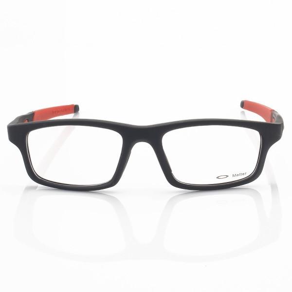 Armacao de Óculos Oakley Crosslink OX8037 Preto e Vermelho