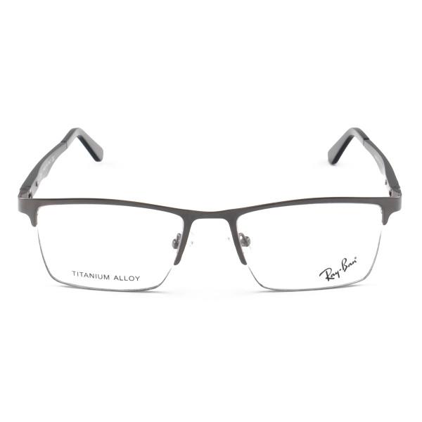 Armacao de Óculos Masculina Meio Aro Ray-Ban RB9128 Grafite