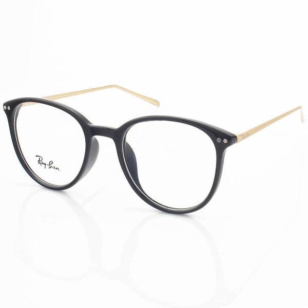 Armação de Óculos Rendonda Ray-Ban RX006 Preto