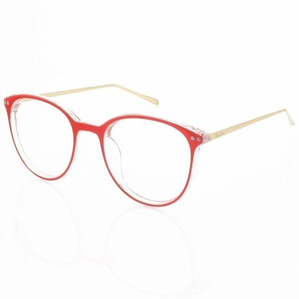 Armação de Óculos Rendonda Ray-Ban RX006 Vermelho