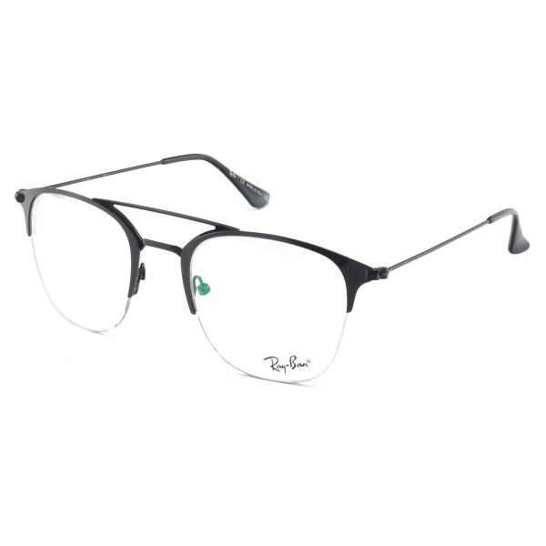 Armacao de Óculos Arredondada Unissex Meio Aro Ray-Ban RB3547 Preto