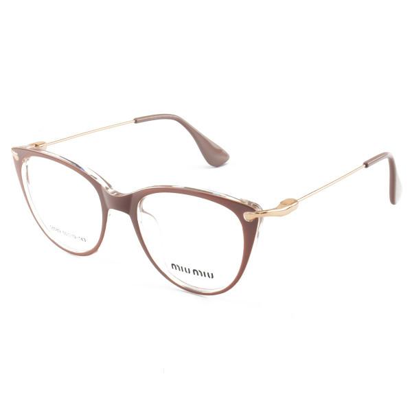 Armacao de Óculos Gatinho Feminino Miu Miu 58589 Nude