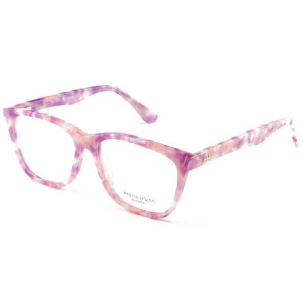 Armacao de Óculos Quadrada Ana Hickmann AH6225 Rosa Mesclado