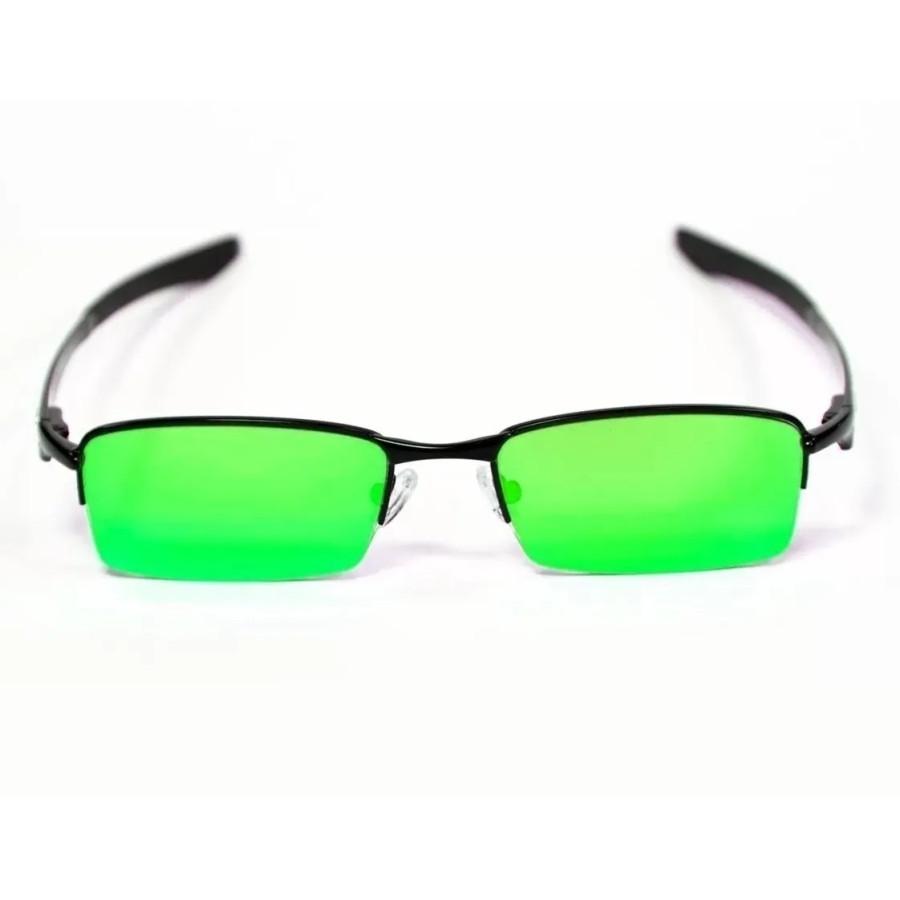 Óculos Oakley Lupinha Lupa Vilão Fio Nylon Preta e Verde