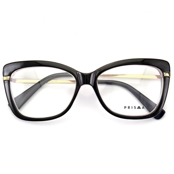 Armação de Oculos Quadrada Feminina Mj545 Preta e Rosa