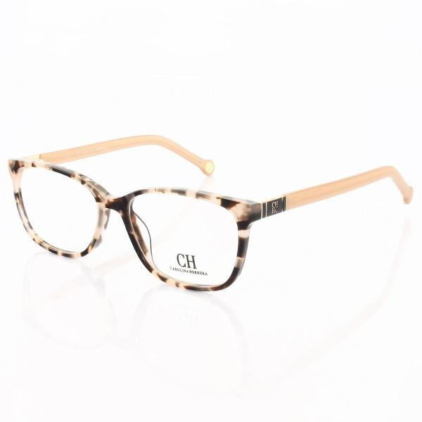 Armação de Óculos Quadrada Carolina Herrera CH633 Rosa Tartaruga