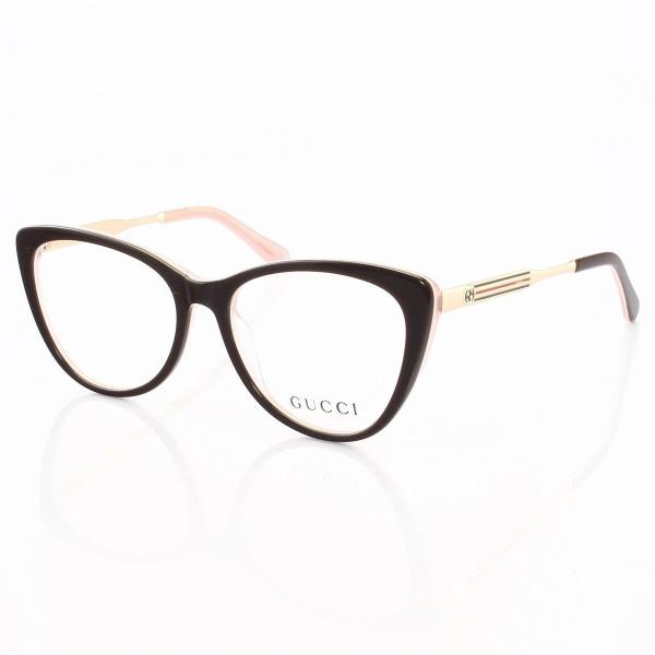 Armacao de Óculos Gatinho Gucci GG3126 Marrom e Rosa