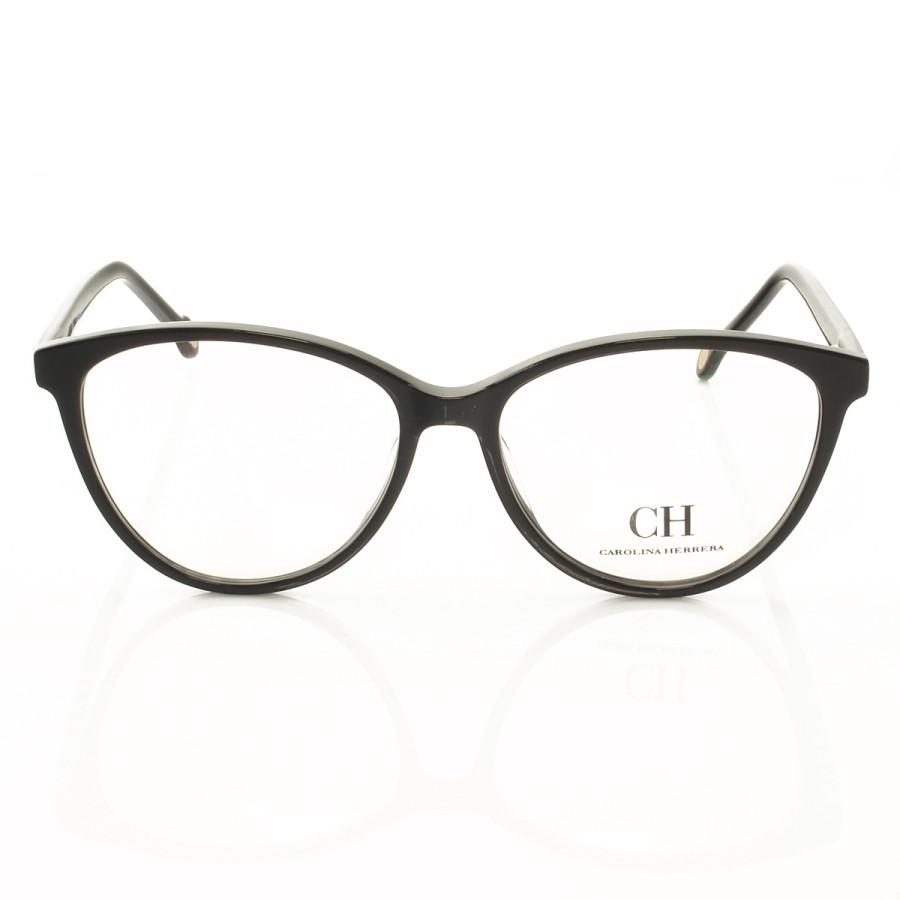 Armacao de Óculos Gatinho Carolina Herrera VHE772 Preto