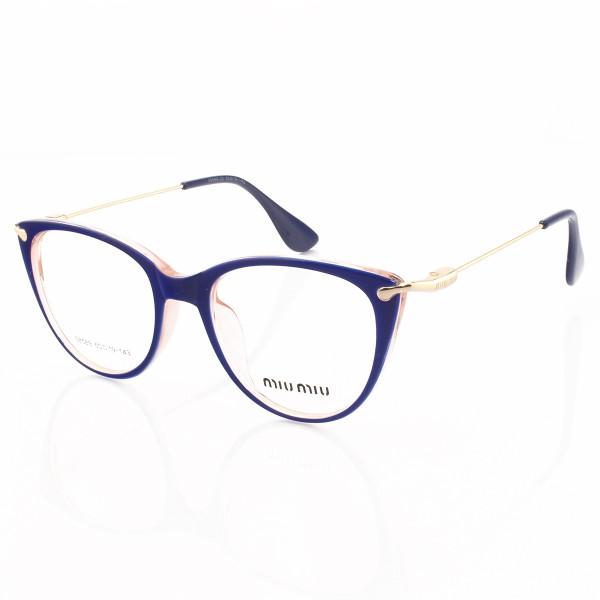 Armacao de Óculos Gatinho Feminino Miu Miu 58589 Azul e Rosa