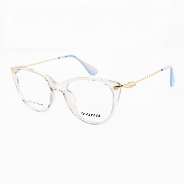 Armacao de Óculos Gatinho Feminino Miu Miu 58589 Transparente