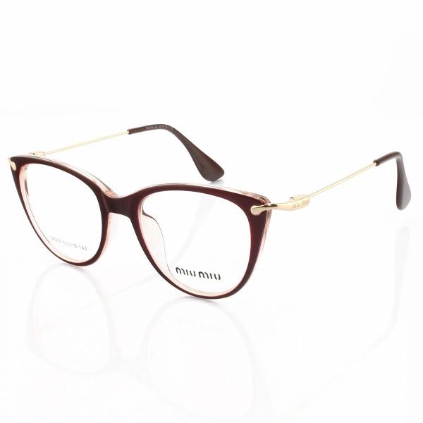 Armacao de Óculos Gatinho Feminino Miu Miu 58589 Bordo