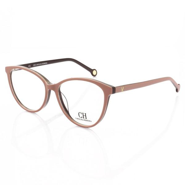 Armacao de Óculos Gatinho Carolina Herrera VHE772 Nude e Tartaruga