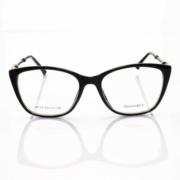 Armacao de Óculos Quadrada Tiffany & Co TF2160 Todo Preto