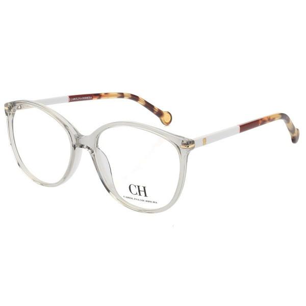 Óculos Armação de Grau - Carolina Herrera Vhe669 Cinza e Branco