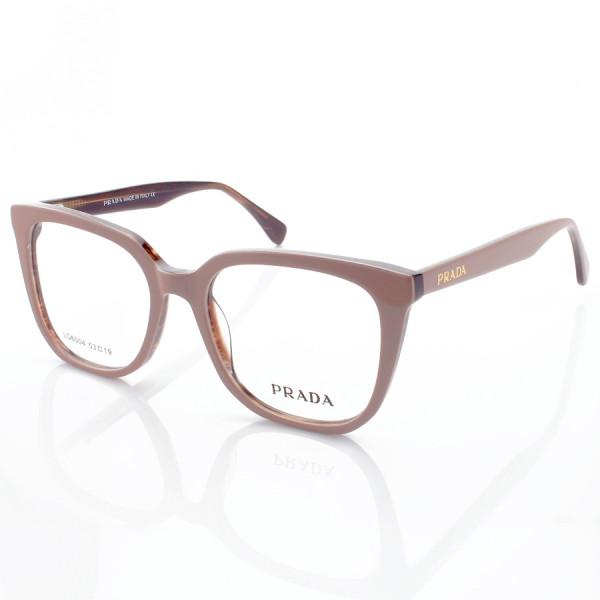 Armação de Óculos Quadrada Prada PR6004 Acetato Nude