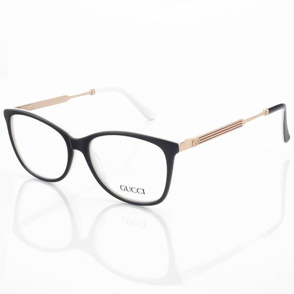 Armação de Óculos Quadrado Gucci GG3869 Preta e Branca