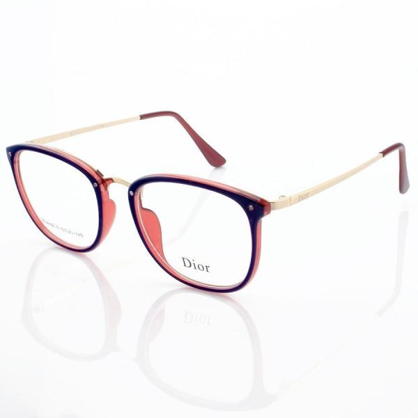 Armacao de Óculos Quadrada Dior RM2002-1 CD Azul e Vermelha
