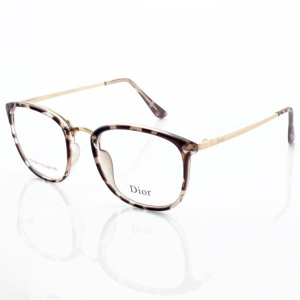 Armacao de Óculos Quadrada Dior RM2002-1 CD Onça