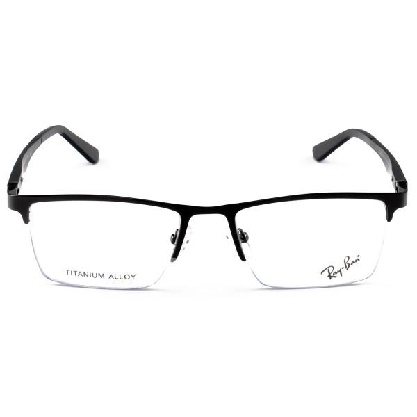 Armacao de Óculos Masculina Meio Aro Ray-Ban RB9128 Preto