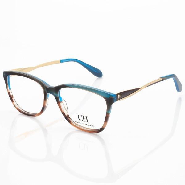 Armação de Óculos Quadrada Carolina Herrera VHE712 Azul Degrade