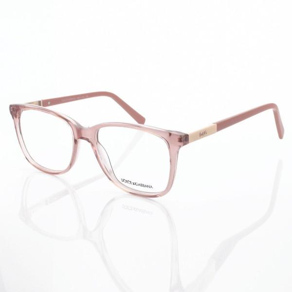 Armação de Óculos Quadrada Dolce & Gabbana DG6104 Rosa Translúcido