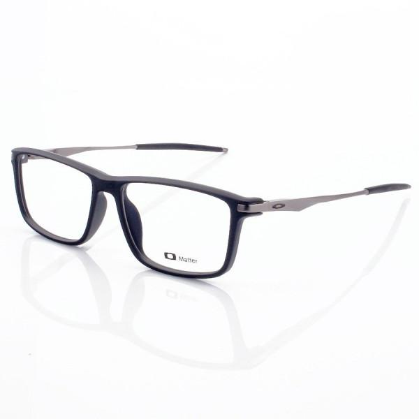 Armacao de Óculos Retangular Oakley Cobalt OX3218 Preta e Grafite