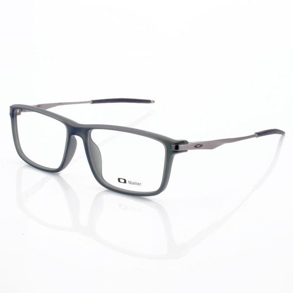 Armacao de Óculos Retangular Oakley Cobalt OX3218 Cinza e Grafite