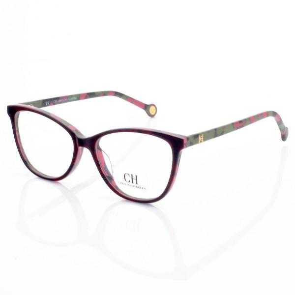 Armação de Oculos Oval Carolina Herrera CH2281 - Verde e Rosa