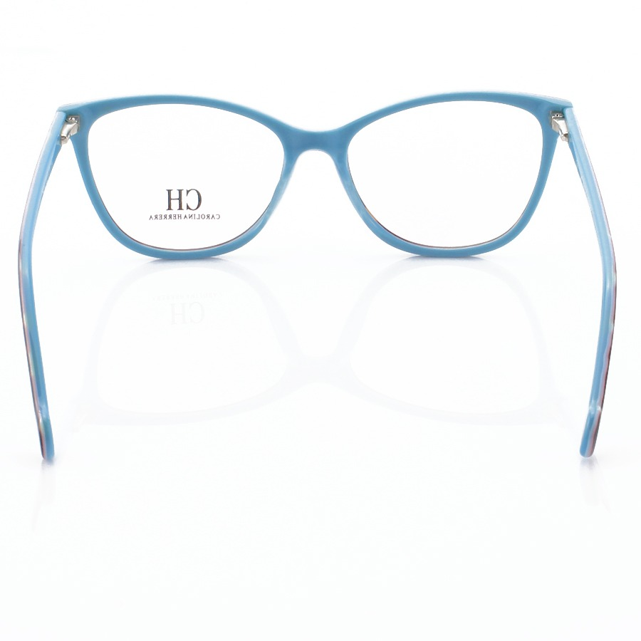 Armação de Oculos Oval Carolina Herrera CH2281 - Tartaruga e Azul