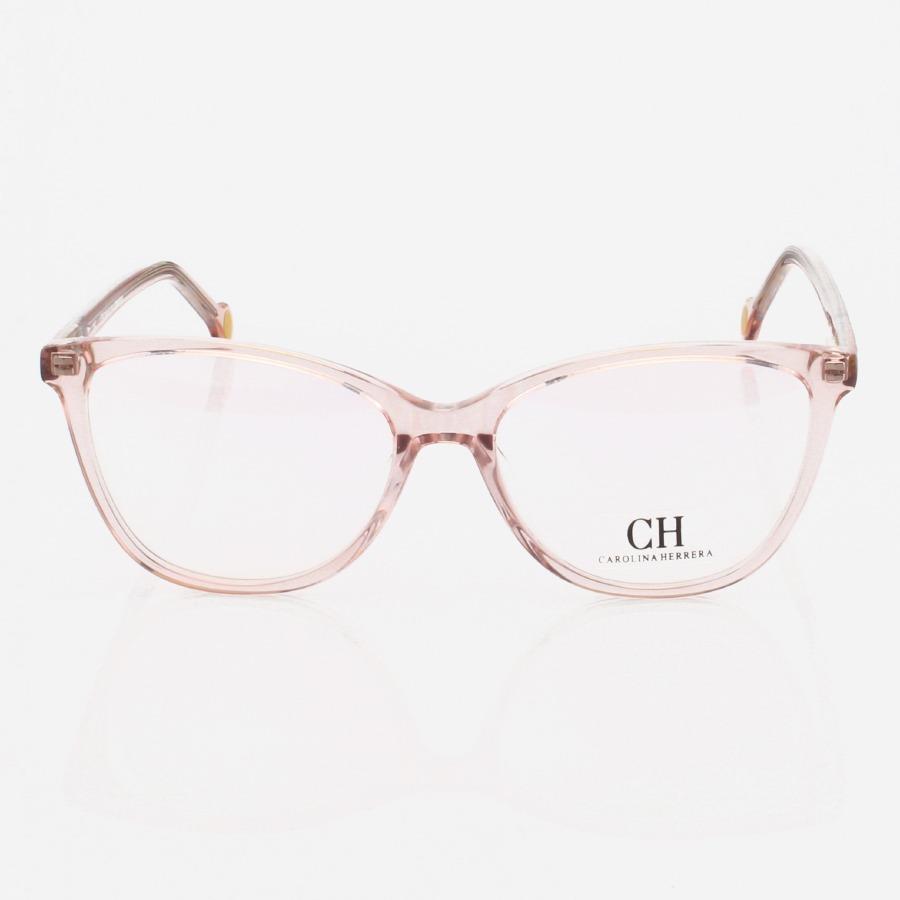 Armação de Oculos Oval Carolina Herrera CH2281 - Rosa Translúcido
