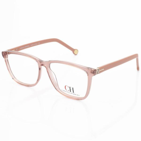 Armação de Oculos Quadrado Carolina Herrera VHE601 Rosa Translúcido