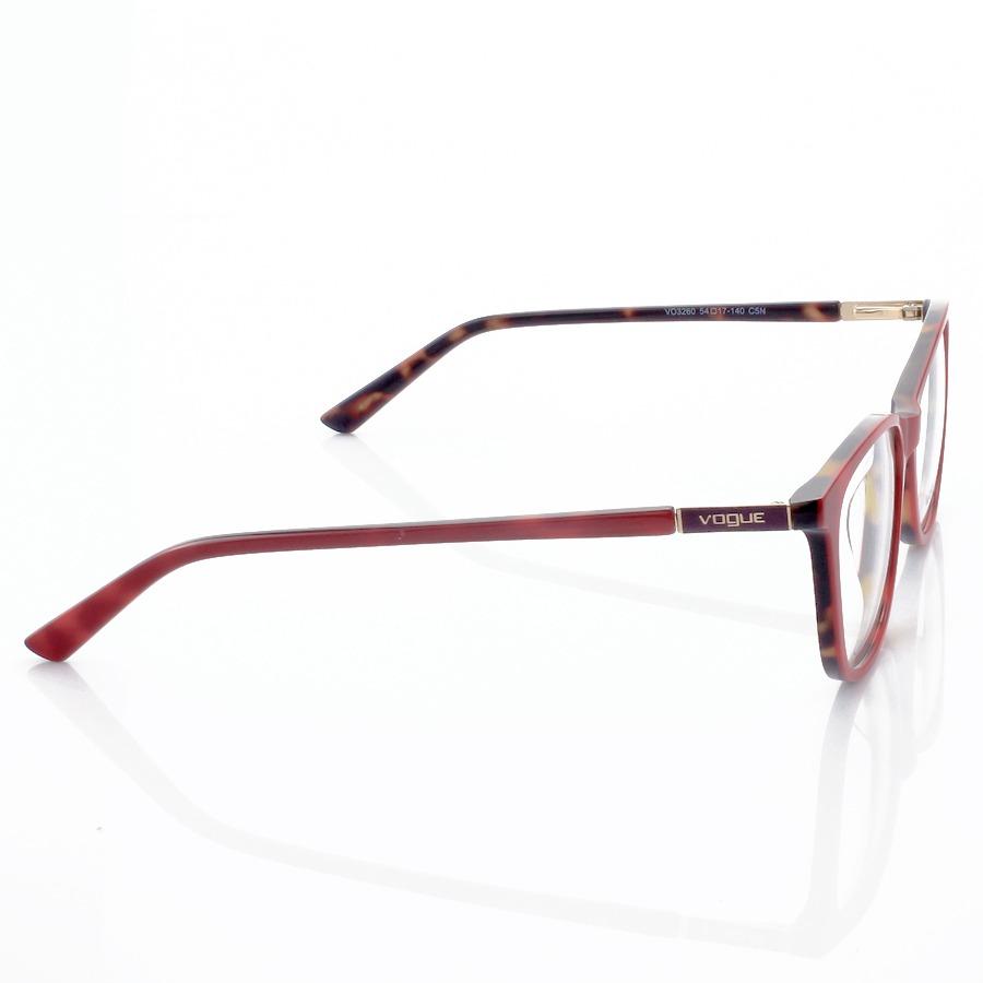 Armação de Óculos Quadrado Vogue VO3260 Vermelho e Tartaruga
