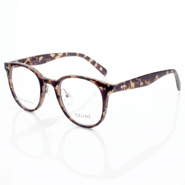 Armação de Óculos Redonda Céline XH58720 Tartaruga Claro